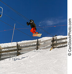 Winter Sports on Ski Resort