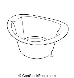Basin outline vector - image of Basin isolate on background...