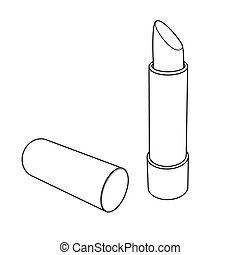 Lipstick outline vector - image of Lipstick vector isolated...