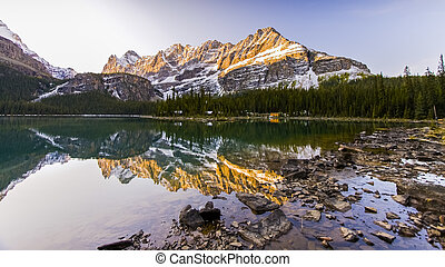 Beautiful Lake Ohara in Banff National Park