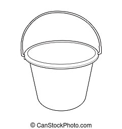 water bucket outline vector - image of water bucket vector...