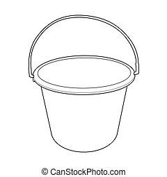 water bucket outline vector - image of water bucket vector...