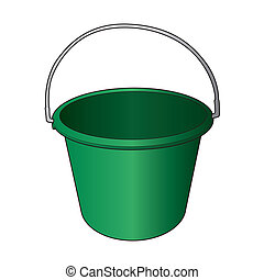 water bucket vector - image of water bucket vector isolated...