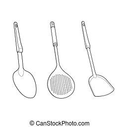 utensil outline vector