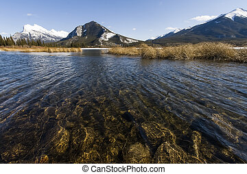 Scenic Vermillion Lake in Banff National Park