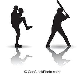 Baseball Vector silhouette