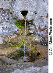 stone water source - wild and natural stone water source