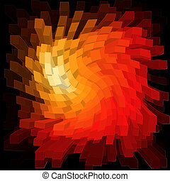 Bright Abstract Data Stream Colored Twirl Swirl