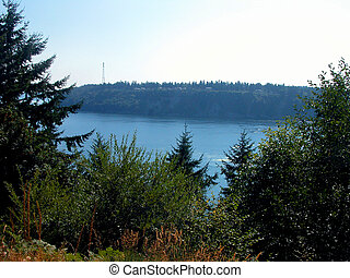 Defiance Park, Tacoma WA - Puget Sound is viewed from...