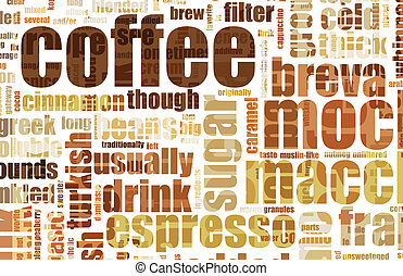 Coffee Background - Coffee Artistic Menu as a Abstract...