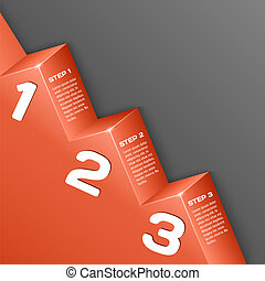 Abstract 3d numbers background Vector illustration for your...