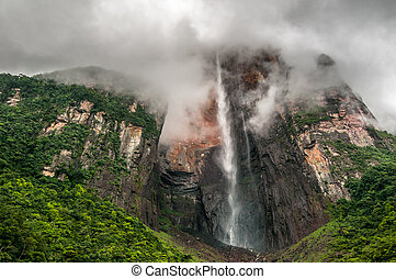 Angel Falls, the worlds highest waterfall, Venezuela
