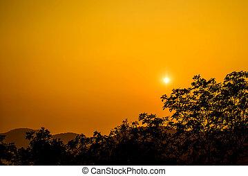 Sun set at Hin Lek Fai view point, Hua Hin, Thailand.