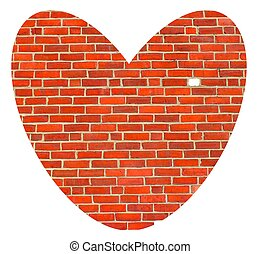 heart breakthrough - concept of chipping though a cold brick...