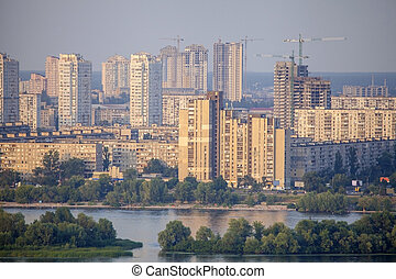 New residencial district in Kyiv.
