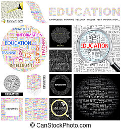 Education. Concept illustration. - Education. Word cloud...