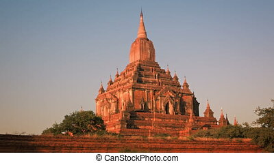 Htilominlo Temple located in Bagan. Myanmar - Video...