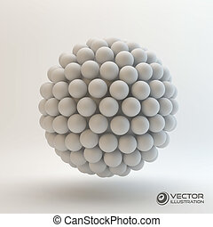 3D concept illustration Vector template