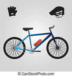 sport bicycle and equipment eps10