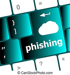 Privacy concept: computer keyboard with word Phishing