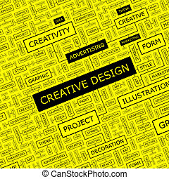 CREATIVE DESIGN Word cloud illustration Tag cloud concept...