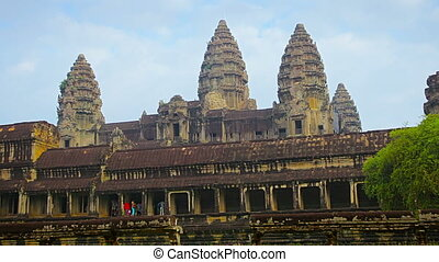 Ancient temple complex - Angkor Wat in Cambodia - Video...