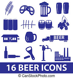 beer icon set eps10