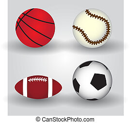 sport balls icon set eps10