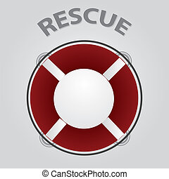 red rescue circle eps10