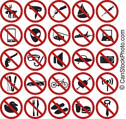 restriction sign set eps10