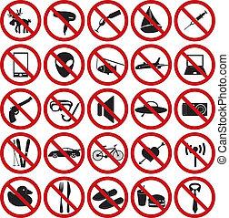 restriction sign set eps10