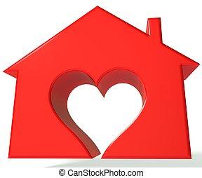 House heart 3D image
