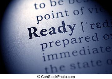 ready - Fake Dictionary, definition of the word ready