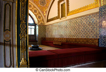 Topkapi room - Beautiful interior of the harem of the sultan...