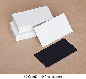 blank business cards - Black and White blank business cards...