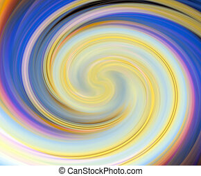 Colored spiral abstract