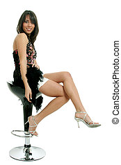 Natural chic - Full body view of lovely young woman in...