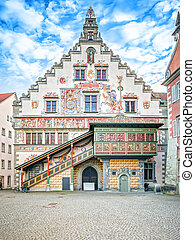 town hall Lindau Germany - A hdr image of the famous town...