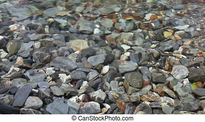 Pebbles in a mountain river