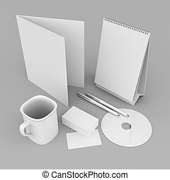 Corporate identity template on the gray background