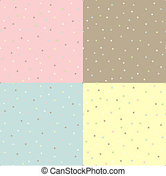 Seamless tenderness polka dot background - Abstract seamless...