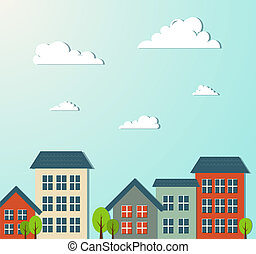 City vector illustration. Vector illustration for your...