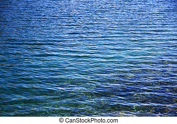 Limpid water of the glacial lake - Transparent clear water...
