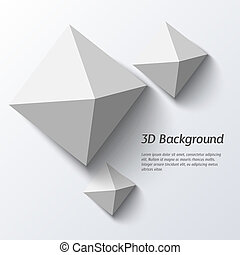 Geometric 3d  abstract background.