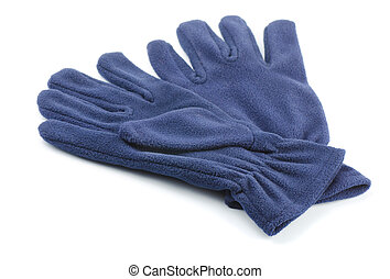 Gloves - Pair of fleece gloves isolated on white