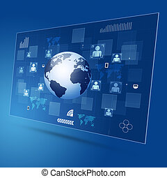Concept Technology Global Connection - technology global...