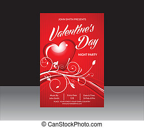 abstract valentine day flyer