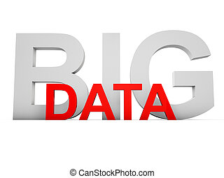 Big Data letters over white background