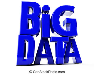 Big Data - Big DATA in big blue letters over white...