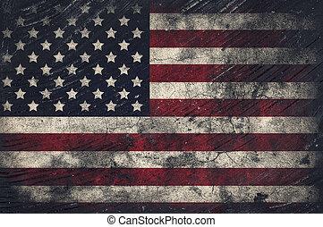 flagga,  grunge,  USA